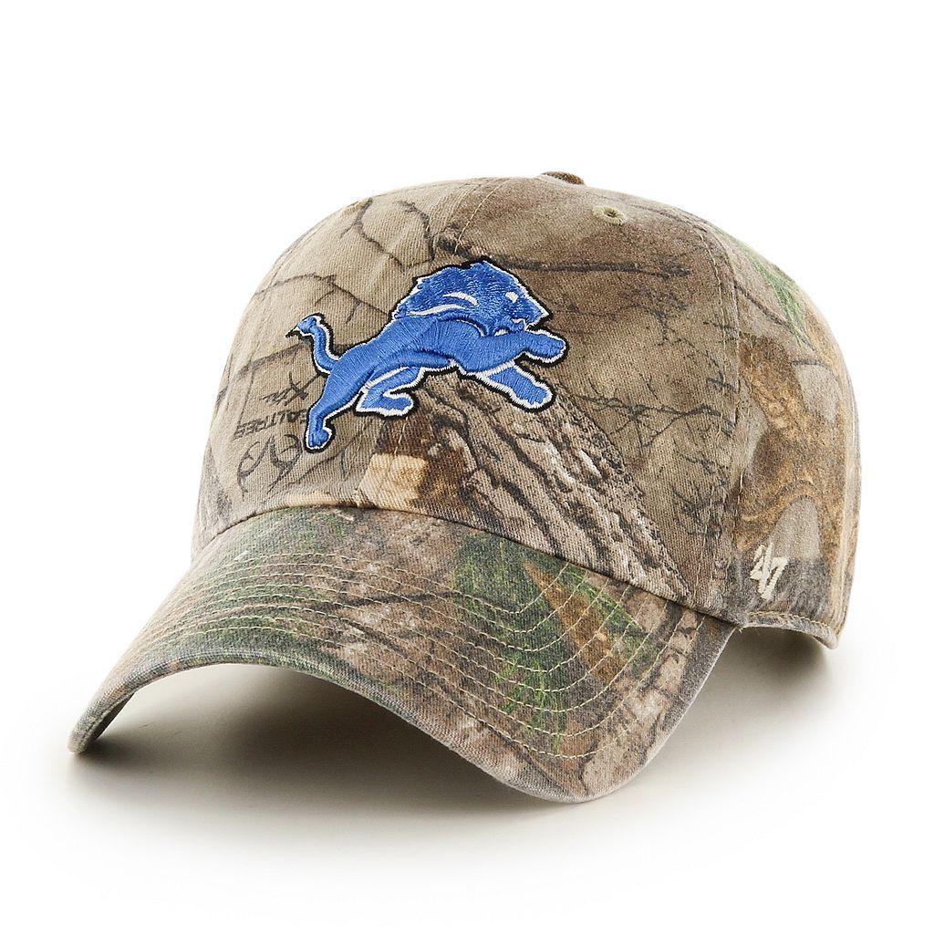 Adult '47 Brand Detroit Lions Realtree Clean Up Adjustable Cap