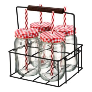 Artland Gingham 13-pc. Sipper Set with Caddy