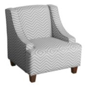 HomePop Kids Chevron Accent Chair