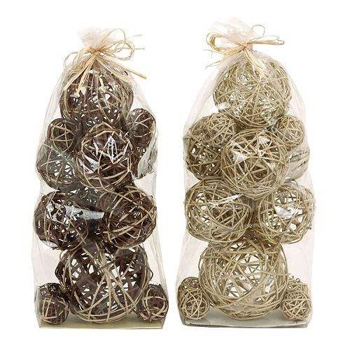Rustic Decorative Ball Vase Filler 28-piece Set