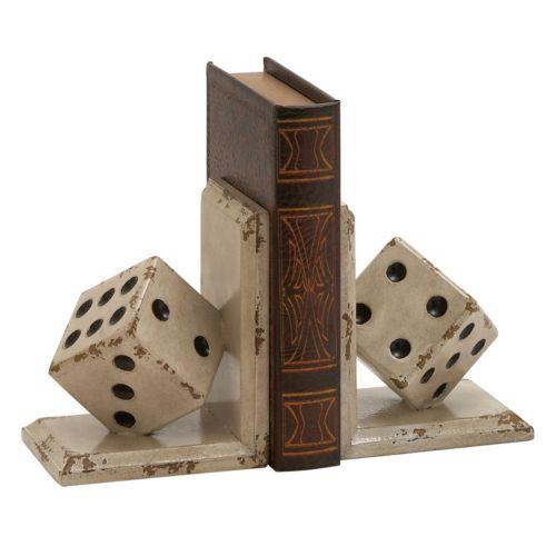 Dice Bookends 2-piece Set