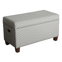 HomePop Cameron Chevron Storage Bench