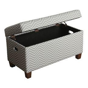 HomePop Cameron Chevron Storage Bench