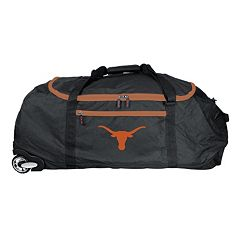 Denco Texas Longhorns Wheeled Collapsible Duffel Bag