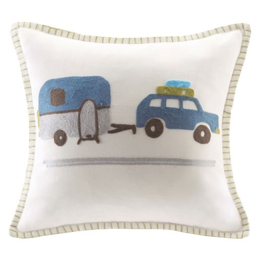 INK+IVY Kids Shasta Embroidered Square Throw Pillow
