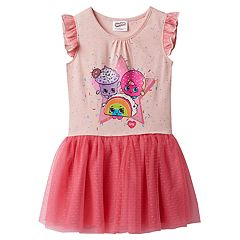 Girls 4-7 Shopkins Rainbow Bite, Creamy Cookie Cupcake & D'lish Donut Jersey Dress