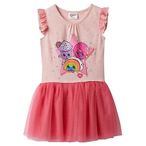 Girls 4-7 Shopkins Rainbow Bite, Creamy Cookie Cupcake & D'lish Donut Jersey Dress