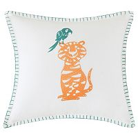 INK+IVY Kids Henry Embroidered Square Throw Pillow