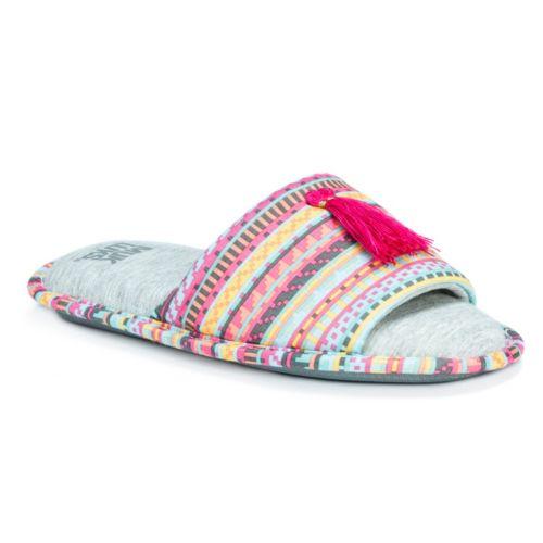 MUK LUKS Women's Florence ... Memory Foam Slide Slippers