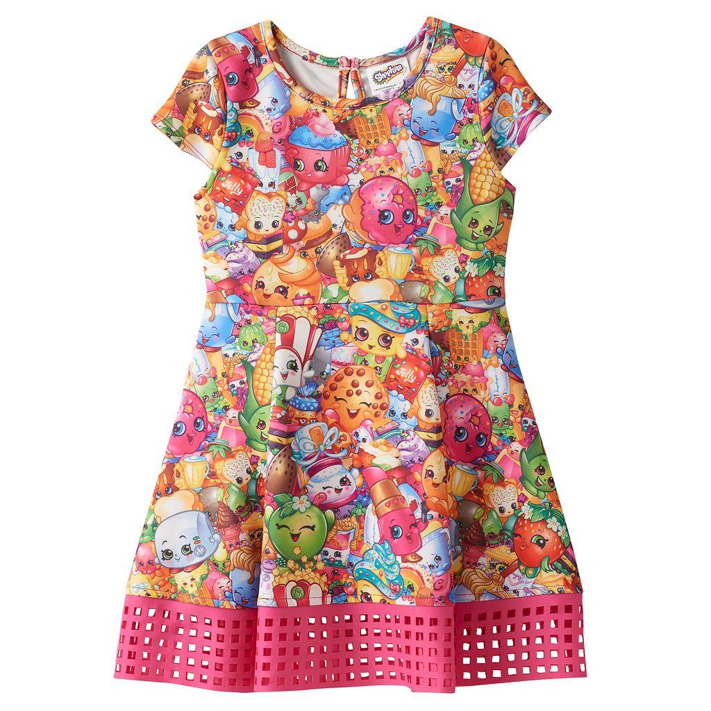 Girls 4-7 Shopkins Cupcake Chic, D'lish Donut & Pamela Pancake Sublimated Dress