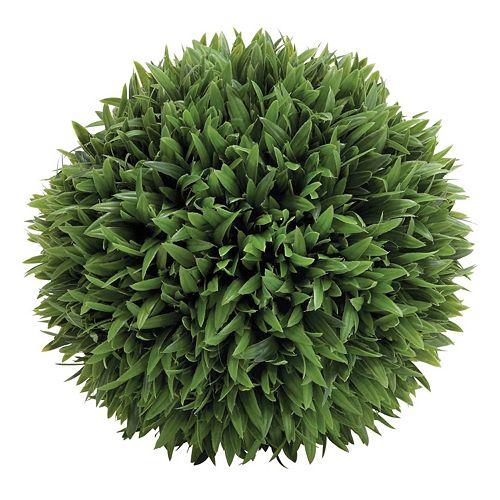 13-in. Artificial Grass Ball Table Decor