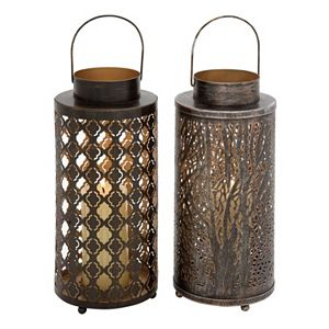 Large Lantern Candle Holder 2-piece Set