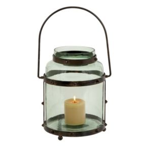 Glass Jar Lantern Candle Holder