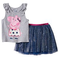 Girls 4-7 Peppa Pig Tank Top & Skort Set