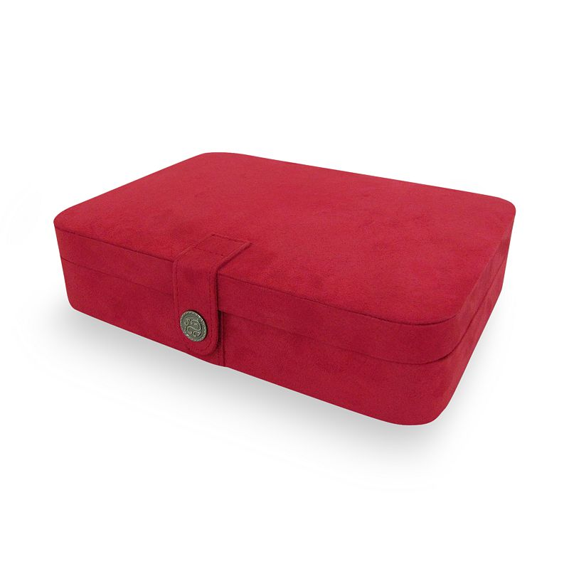 Mele & Co Faux-Suede Jewelry Travel Case, Red