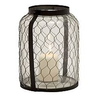 Wire Glass Jar Lantern Candle Holder