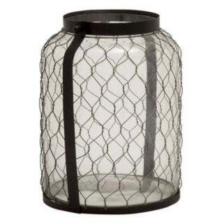 Wire Glass Jar Lantern Candle Holder