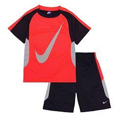 Boys 4-7 Nike Swoosh Tee & Shorts Set