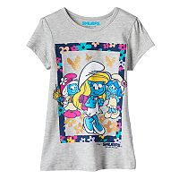 Girls 4-7 Smurfs: The Lost Village Smurfette, SmurfWillow & SmurfBlossom Tee