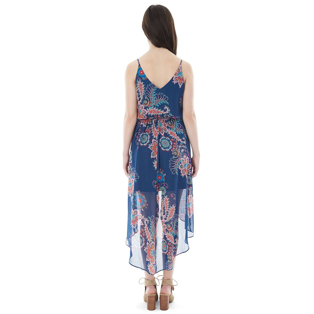 Juniors' IZ Byer California Print High-Low Dress