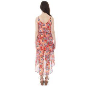 Juniors' IZ Byer Print High-Low Dress
