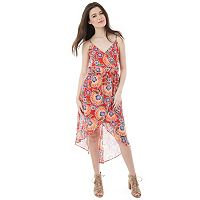 Juniors' IZ Byer Print High-Low Dress