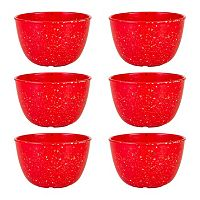 Zak Designs Confetti 6 pc Melamine Pub Bowl Set