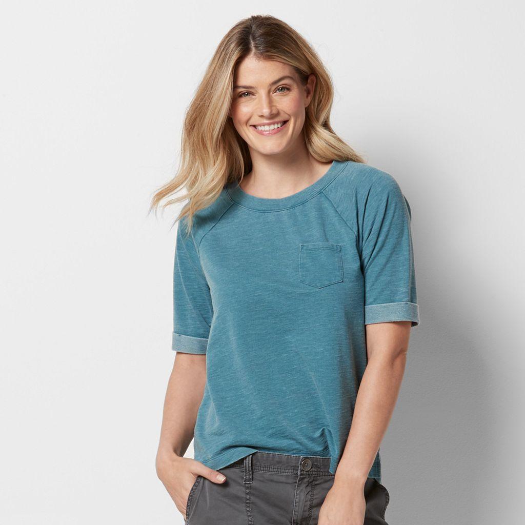 Women's SONOMA Goods for Life™ French Terry Raglan Sweatshirt