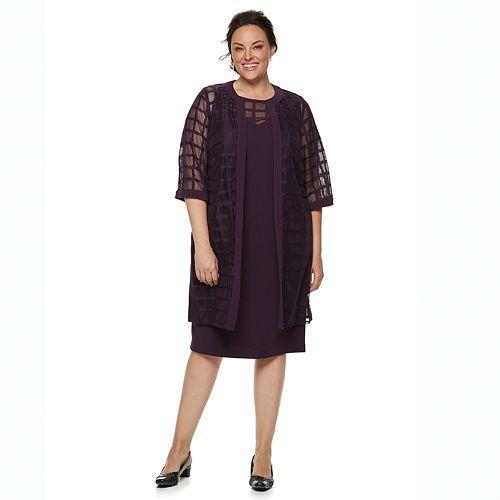 bd483841a1cb Plus Size Maya Brooke Sheath Evening Dress & Georgette Jacket Set