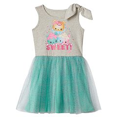 Girls 4-7 Num Noms 'Sweet' Graphic Tulle Dress