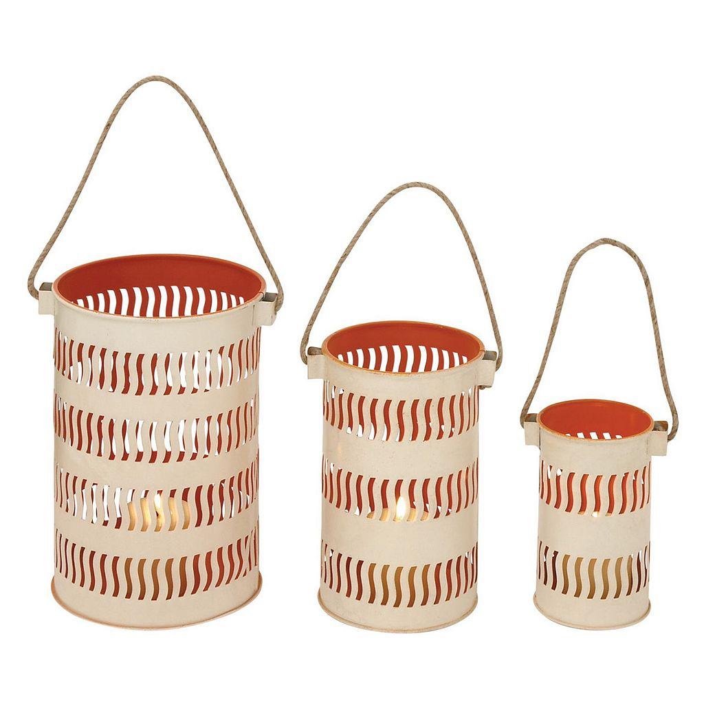 Metal Lantern Candle Holder 3-piece Set