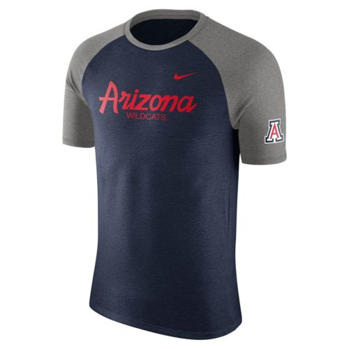 Men's Nike Arizona Wildcats Script Raglan Tee