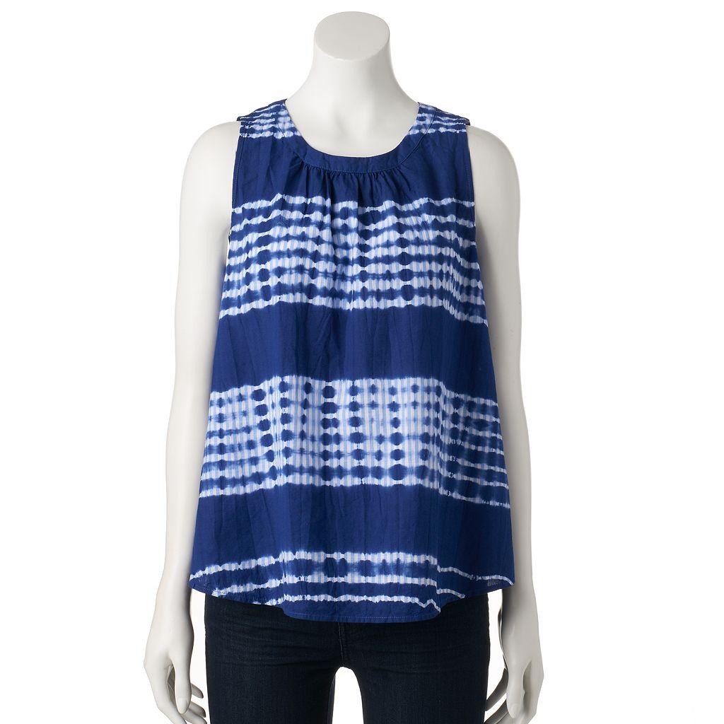 Women's SONOMA Goods for Life™ Tie-Dye Striped Swing Tank