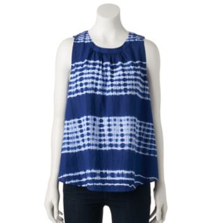 Women's SONOMA Goods for Life™ Tie-Dye Striped Swing Tank