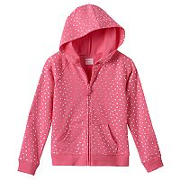 Girls 4-10 Jumping Beans® Dot Zip Hoodie