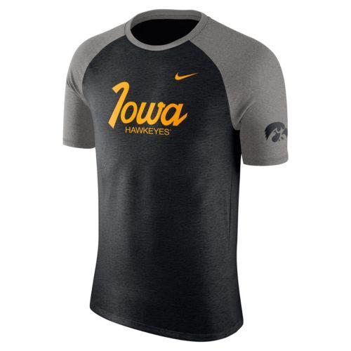 Men's Nike Iowa Hawkeyes Script Raglan Tee