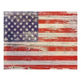 American Flag Distressed I Canvas Wall Art