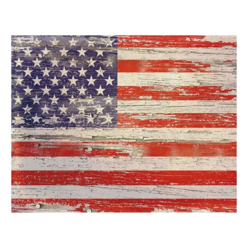 American Flag Distressed I Canvas Wall Art