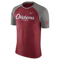Men's Nike Oklahoma Sooners Script Raglan Tee