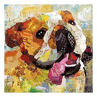Dog Bulldog Canvas Wall Art