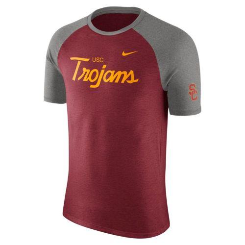 Men's Nike USC Trojans Script Raglan Tee