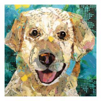 Dog Yellow Lab Canvas Wall Art