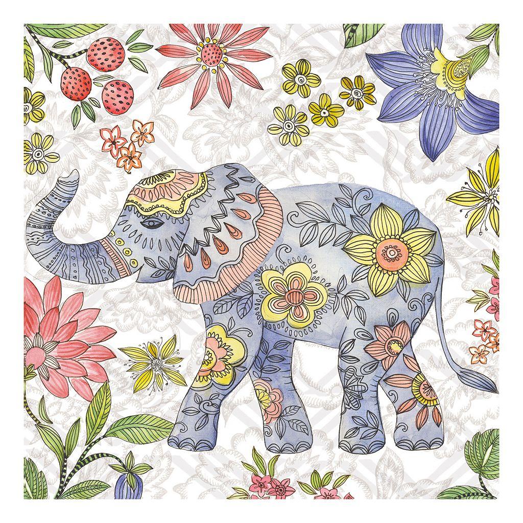 Elephant 2 Canvas Wall Art