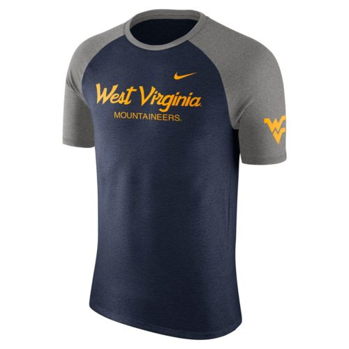 Men's Nike West Virginia Mountaineers Script Raglan Tee