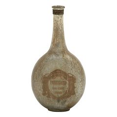Distressed Glass Bottle Vase Table Decor