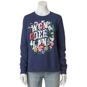 Disney's Juniors' Alice in Wonderland Floral Graphic Sweatshirt