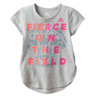 "Girls 4-6x adidas ""Fierce On The Field"" Tee"