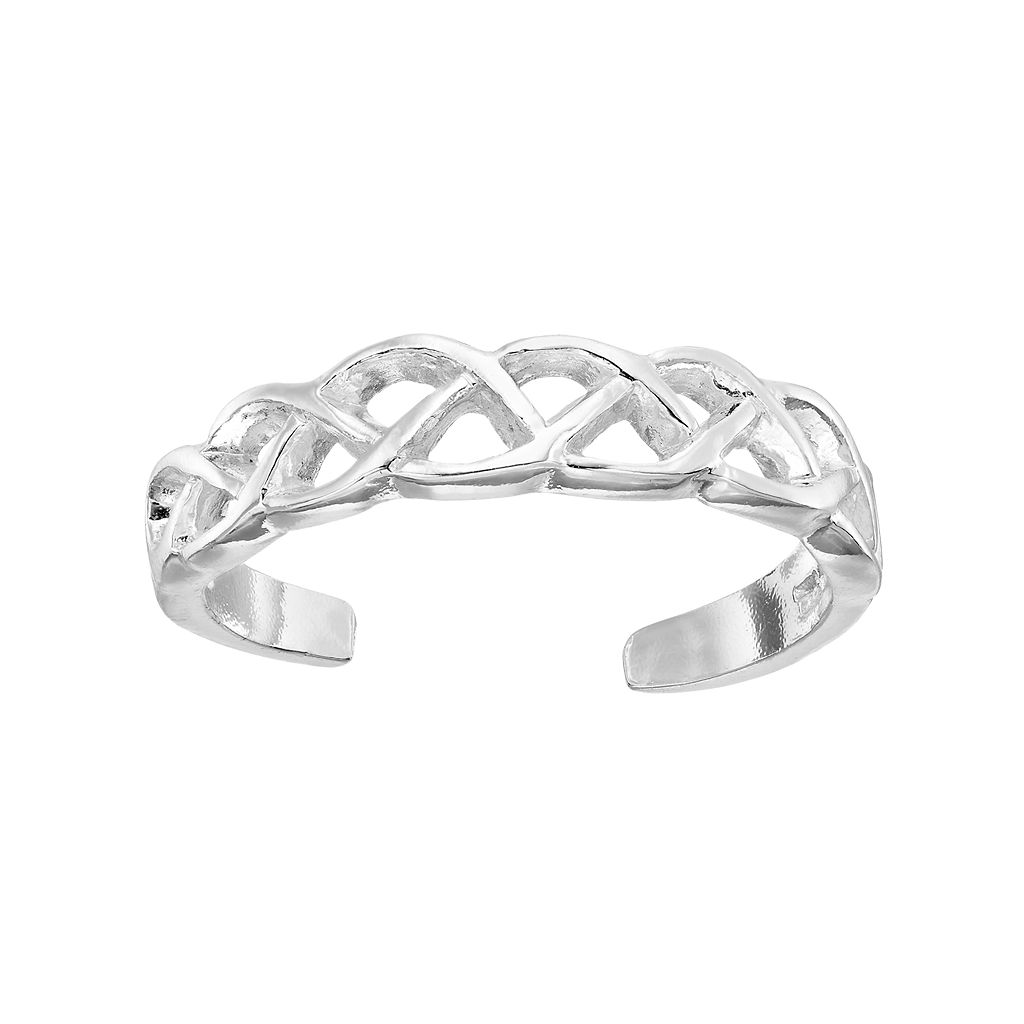 Barefootsies Silver Plated Celtic Knot Toe Ring