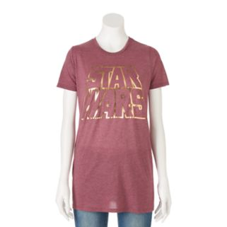 Juniors' Star Wars Foiled Logo Graphic Tee