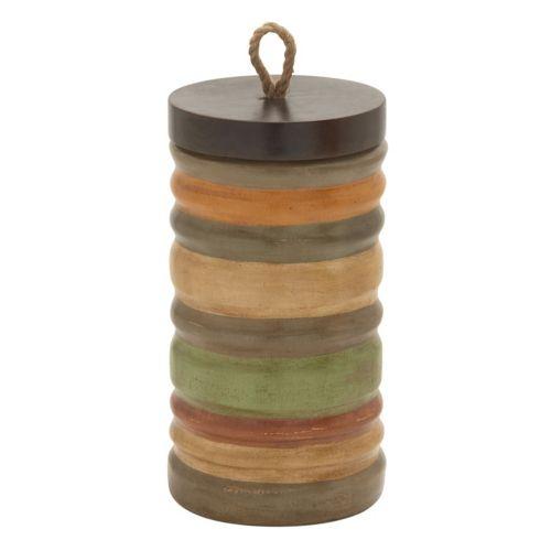 Rustic Multicolored Jar Table Decor